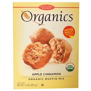 European Gourmet Bakery, Organic Muffin Mix, Apple Cinnamon, 16 oz (453 g)