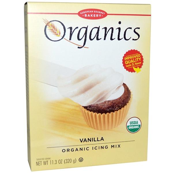 European Gourmet Bakery, Organic Icing Mix, Vanilla, 11.3 oz (320 g) (Discontinued Item)
