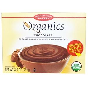 Юропеан Гурмэ Бейкари, Organics, Cooked Pudding & Pie Filling Mix, Chocolate, 3.5 oz (99 g) отзывы покупателей