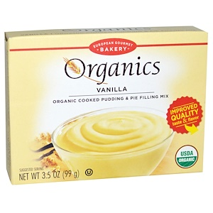 Юропеан Гурмэ Бейкари, Organics, Cooked Pudding and Pie Filling Mix, Vanilla, 3.5 oz (99 g) отзывы покупателей