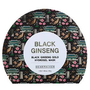 Dear Packer, Black Ginseng, Black Ginseng Gold Hydrogel Mask, 1 Sheet, 1.06 oz (30 g) отзывы