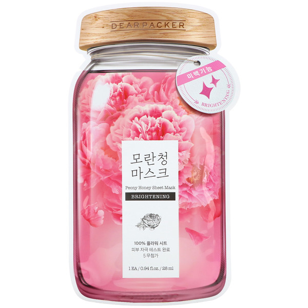 Peony Honey Sheet Mask, Brightening, 1 Sheet, 0.94 fl oz (28 ml)