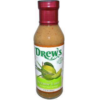 Drew's All Natural, Dressing & Quick Marinade, Thai Sesame Lime, 12 fl oz (354 ml)