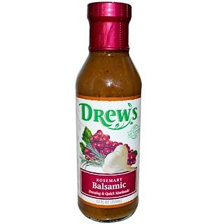 Drew's Organics, Dressing & Quick Marinade, Rosemary Balsamic, 12 fl oz (354 ml)
