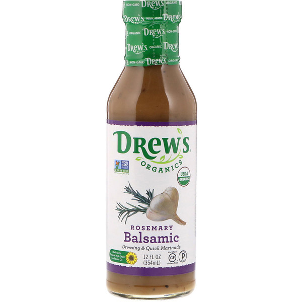 Drew's Organics, Dressing & Quick Marinade, Rosemary Balsamic, 12 fl oz (354 ml)