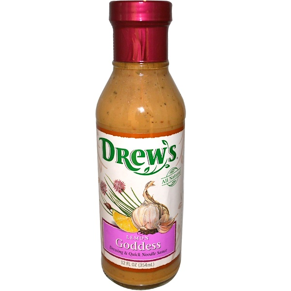 Drew's Organics, Dressing & Quick Noodle Sauce, Lemon Goddess, 12 fl oz (354 ml) (Discontinued Item)