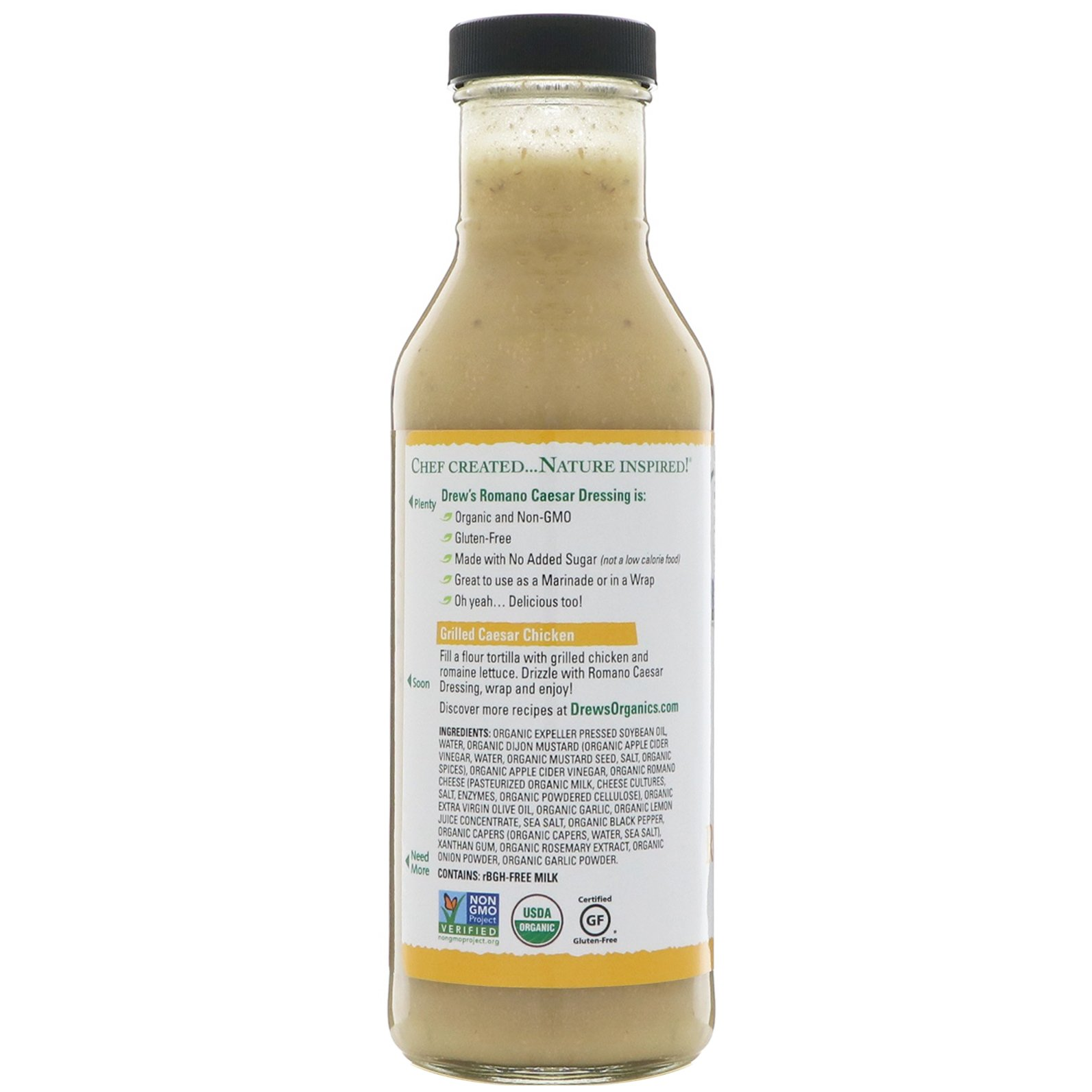 Drews Organics Dressing Quick Marinade Romano Caesar 12 Fl Oz Wrp On The Go Strawberry Low Fat 200 Ml Click To Zoom