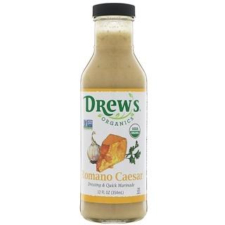 Drew's Organics, Dressing & Quick Marinade, Romano Caesar, 12 fl oz (354 ml)
