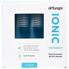 Dr. Tung's, Ionic Toothbrush, Replacement Brush Heads, Soft Bristles, 2 Pack