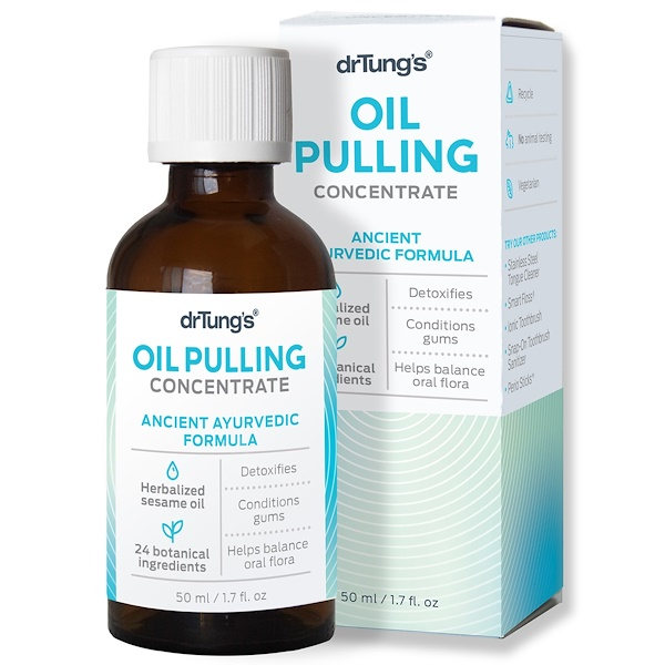 Dr. Tung's, Oil Pulling Concentrate, Ancient Ayurvedic Formula, 1.7 fl oz (50 ml) (Discontinued Item)
