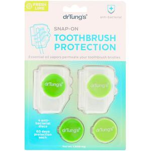 Др Тангс, Snap-On Toothbrush Protection, Fresh Lime, 1,600 mg отзывы покупателей