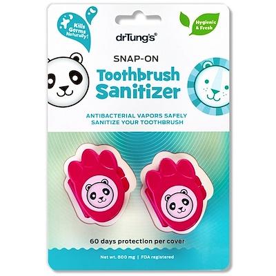 Kids Snap-On Toothbrush Sanitizer, 2 Sanitizers