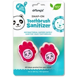 Dr. Tung's, Kid's Snap-On Toothbrush Sanitizer , 2 Toothbrush Sanitizers