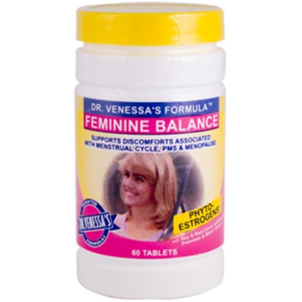 Dr. Venessa's, Feminine Balance, 60 Tablets (Discontinued Item)