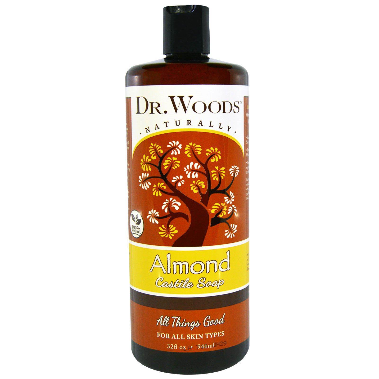 Dr. Woods, Миндальное кастильское мыло, 32 жидкой унции (946 мл)