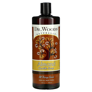 Dr. Woods, Jabón de Castilla de almendras, 32 onzas (946 ml)