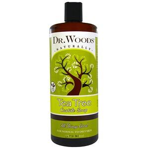 Доктор Вудс, Tea Tree Castile Soap, 32 fl oz (946 ml) отзывы покупателей