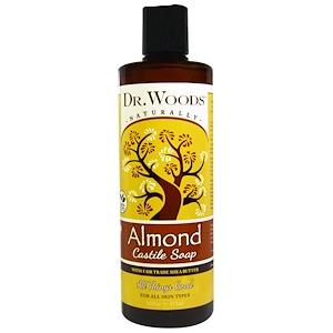 Доктор Вудс, Almond Castile Soap with Fair Trade Shea Butter, 16 fl oz (473 ml) отзывы покупателей