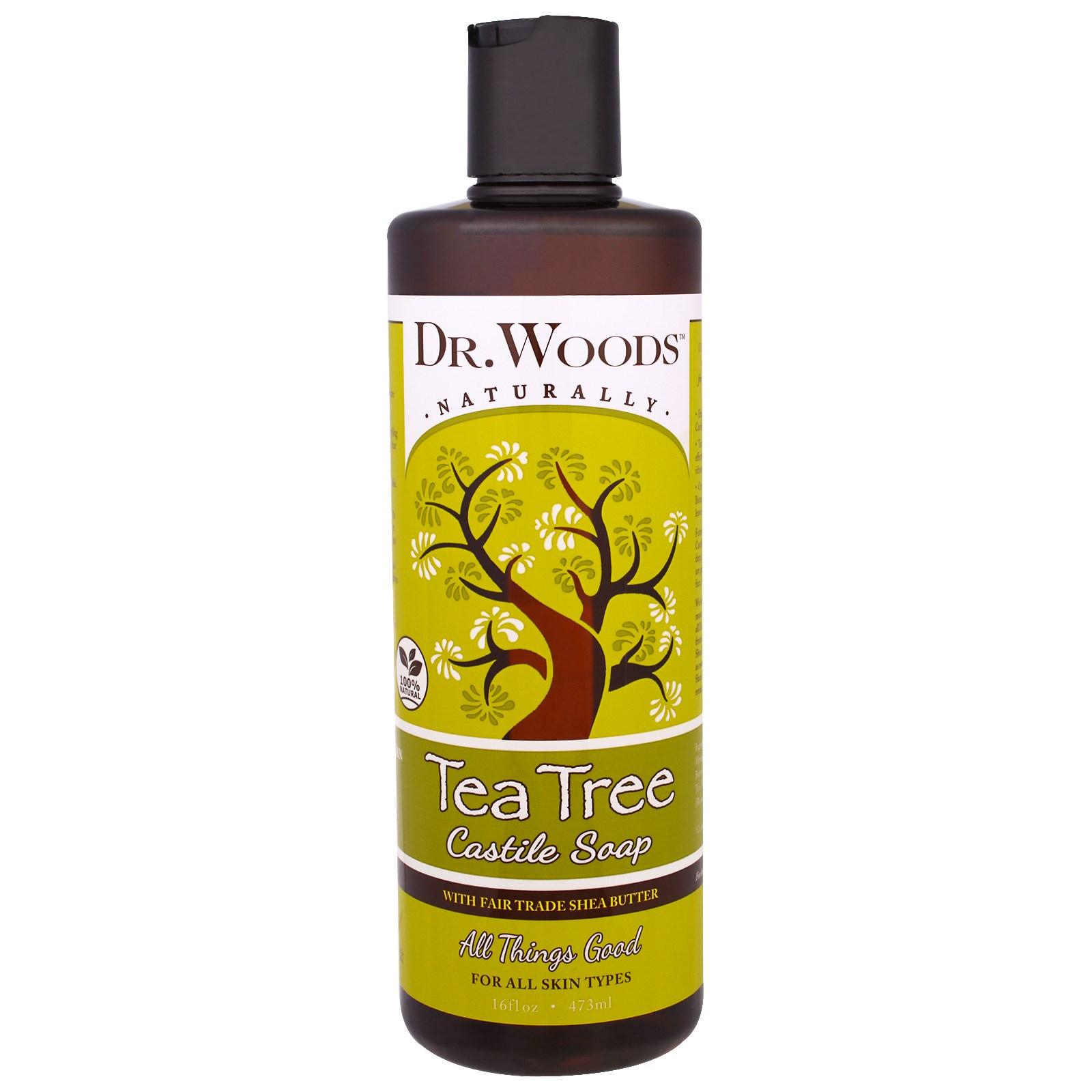 Dr. Woods, Кастильское мыло чайного дерева с маслом ши, 473 мл (16 жидких унций)