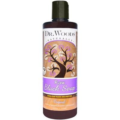 Купить Dr. Woods Сырое черное мыло с маслом ши (изготовлено по правилам справедливой торговли), оригинальное, 473 мл (16 жидких унций)