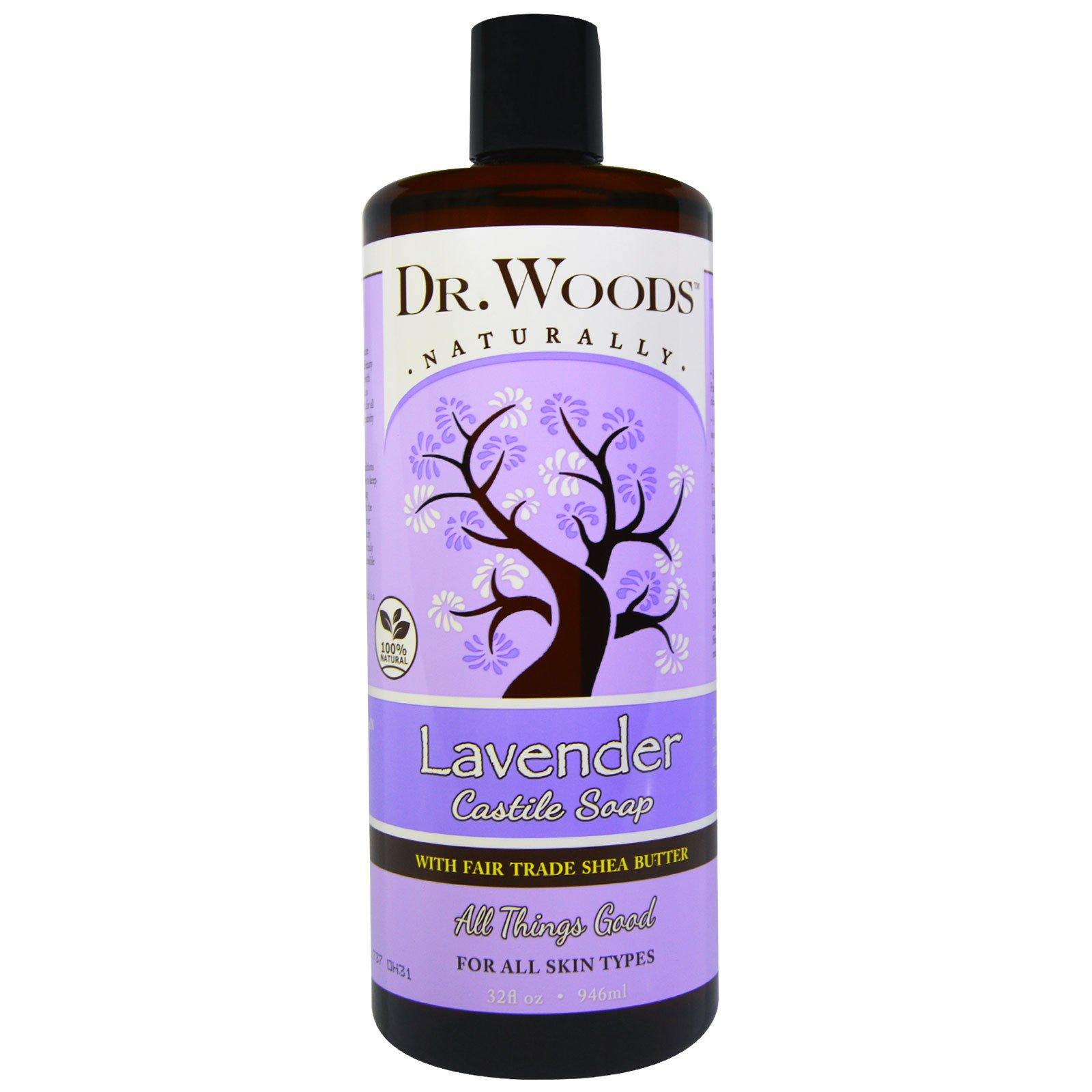 Dr. Woods, Shea Vision,  Успокаивающее кастильское мыло с лавандой, 32 жидких унций (946 мл)