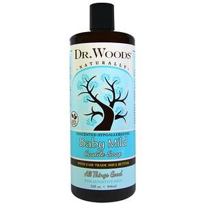 Доктор Вудс, Baby Mild, Castile Soap with Fair Trade Shea Butter, Unscented, 32 fl oz (946 ml) отзывы покупателей