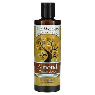 Dr. Woods, Almond Castile Soap with Fair Trade Shea Butter, 8 fl oz (236 ml)