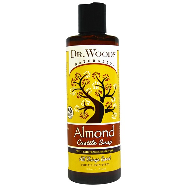 Almond Castile Soap with Fair Trade Shea Butter, 8 fl oz (236 ml)
