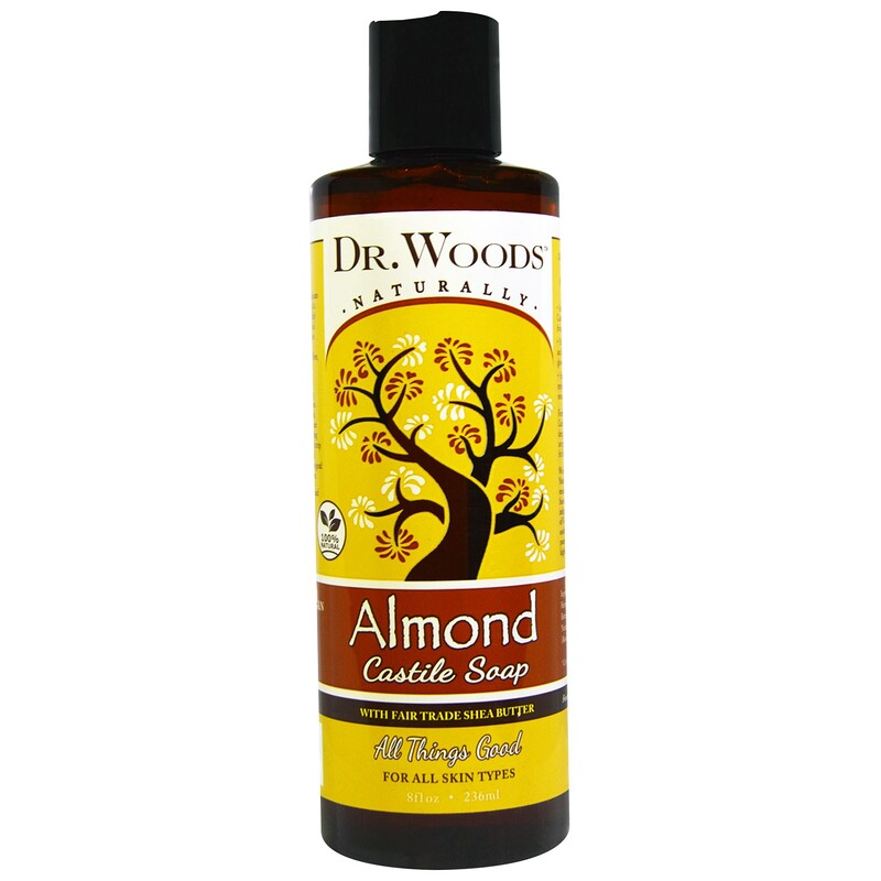 Almond Castile Soap with Fair Trade Shea Butter, 8 fl oz (236 ml)