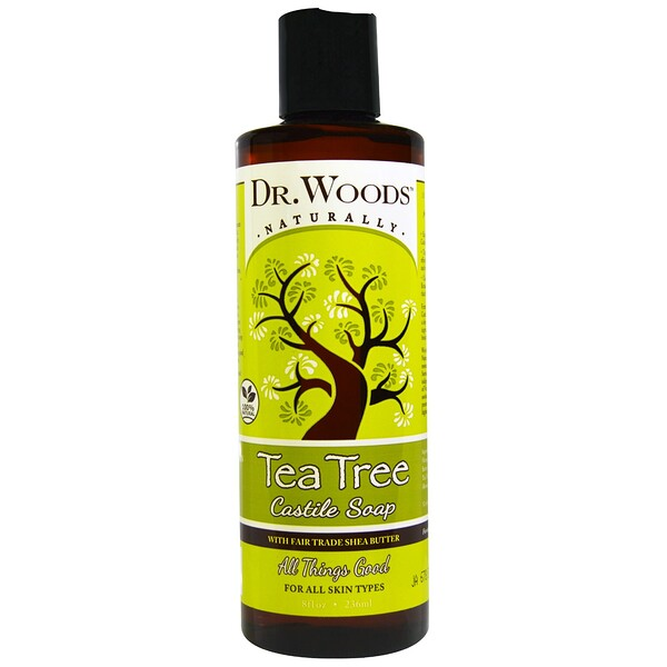 Tea Tree Castile Soap with Fair Trade Shea Butter, 8 fl oz (236 ml)
