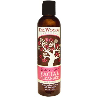 Dr. Woods, Facial Cleanser, Black Soap, 8 fl oz (236 ml)