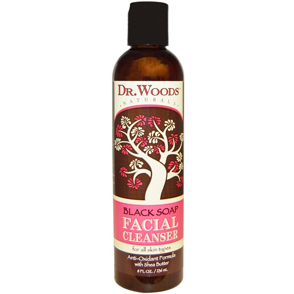 Facial Cleanser, Black Soap, 8 fl oz (236 ml)