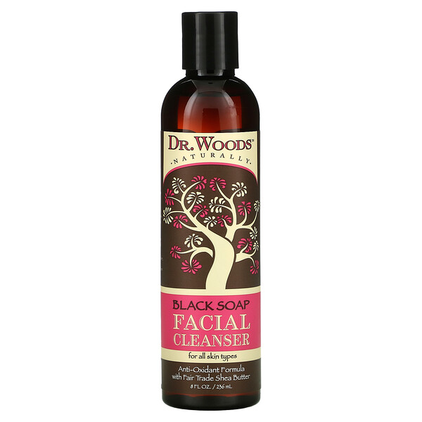 Facial Cleanser, Black Soap, 8 fl oz (236 ml)