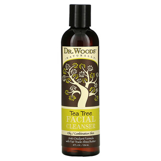 Dr. Woods, 潔面乳,茶樹,8 液量盎司(236 毫升)