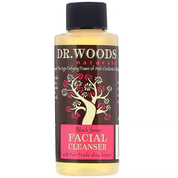 Dr. Woods, Facial Cleanser, Black Soap, 2 fl oz (59 ml)
