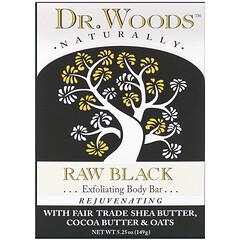 Dr. Woods, 沐浴皂,原生黑色,5.25 盎司(149 克)