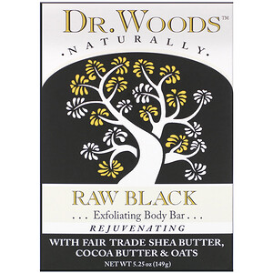 Доктор Вудс, Body Bar, Raw Black, 5.25 oz (149 g) отзывы покупателей