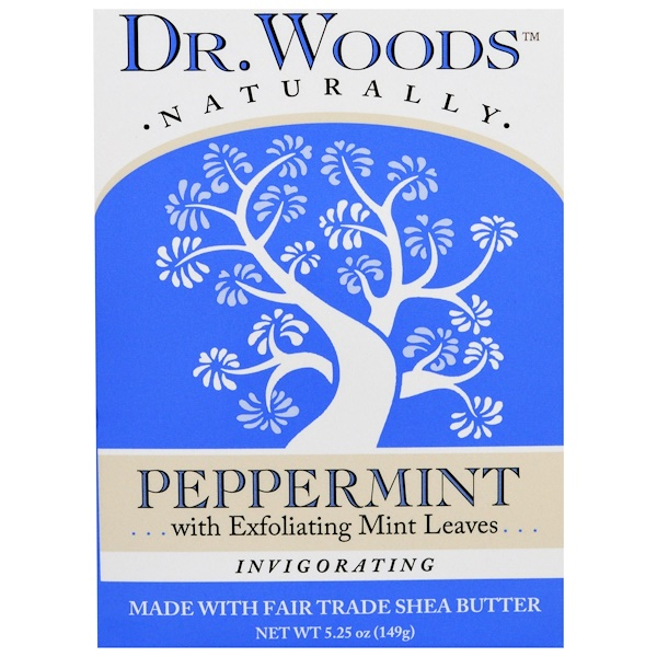 Dr. Woods, Castile Soap, Peppermint, 5.25 oz (149 g)