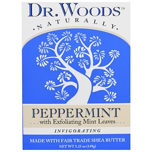 Доктор Вудс, Castile Soap, Peppermint, 5.25 oz (149 g) отзывы покупателей
