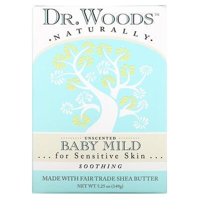 Купить Dr. Woods Мягкое детское мыло, успокаивающее, без запаха, 149 г (5, 25 унции)