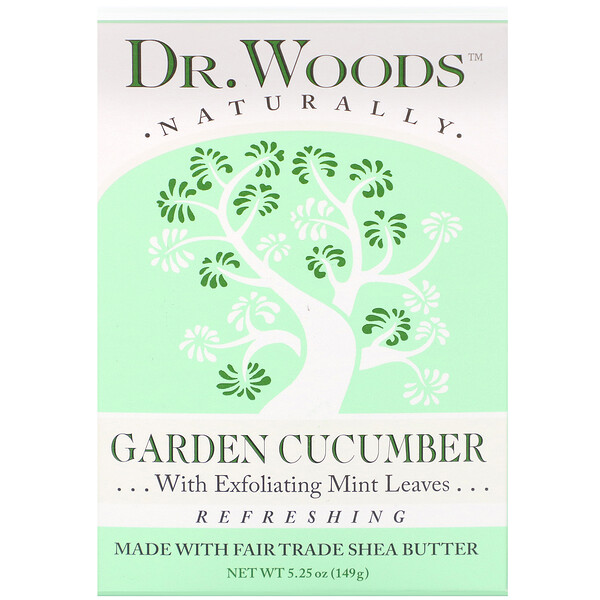 Dr. Woods, Bar Soap, Garden Cucumber, 5.25 oz (149 g) (Discontinued Item)
