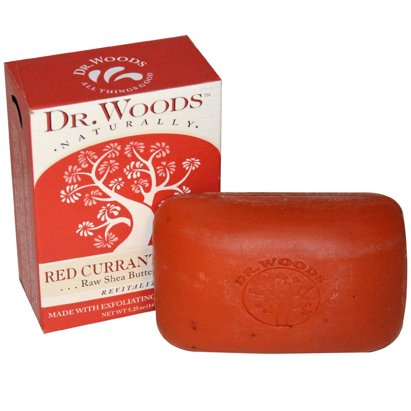Dr. Woods, Мыло с сырым маслом ши, красная смородина гвоздика, 5,25 унций (149 г)