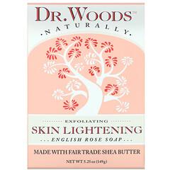 Dr. Woods, 英國玫瑰香皂,亮膚,5.25 盎司(149 克)