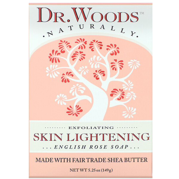 Dr. Woods, English Rose Soap, Skin Lightening, 5.25 oz (149 g)