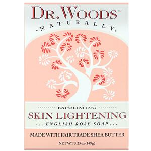 Доктор Вудс, English Rose Soap, Skin Lightening, 5.25 oz (149 g) отзывы