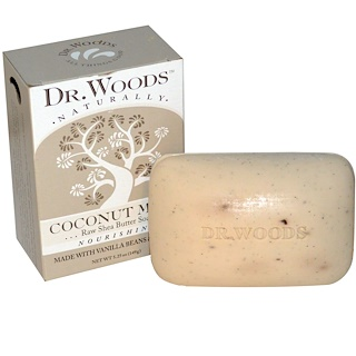 Dr. Woods, Raw Shea Butter Soap, Coconut Milk, 5.25 oz (149 g)