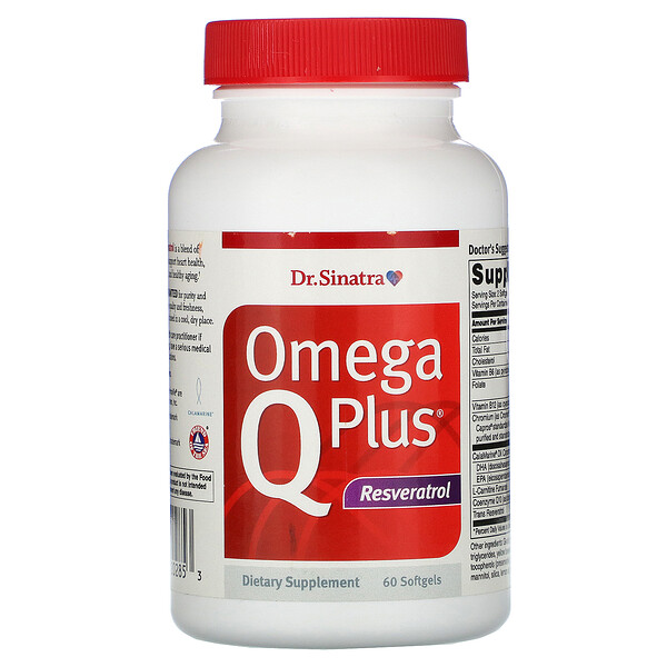 Omega Q Plus, Resveratrol, 60 Softgels
