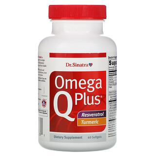 Dr. Sinatra, Omega Q Plus, Resveratrol Turmeric, 60 Softgels