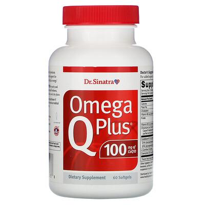 Купить Dr. Sinatra Omega Q Plus 100, 60 Softgels