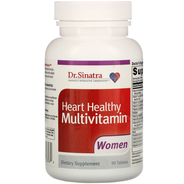 Heart Healthy Multivitamin, Women, 90 Tablets